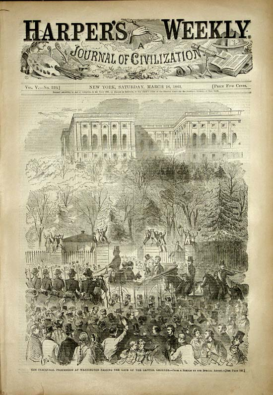 President Lincoln's Inauguration