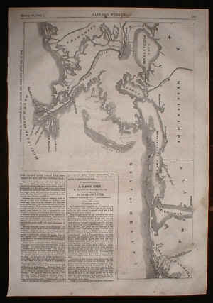 Civil War Battle Map of Mobile and New Orleans