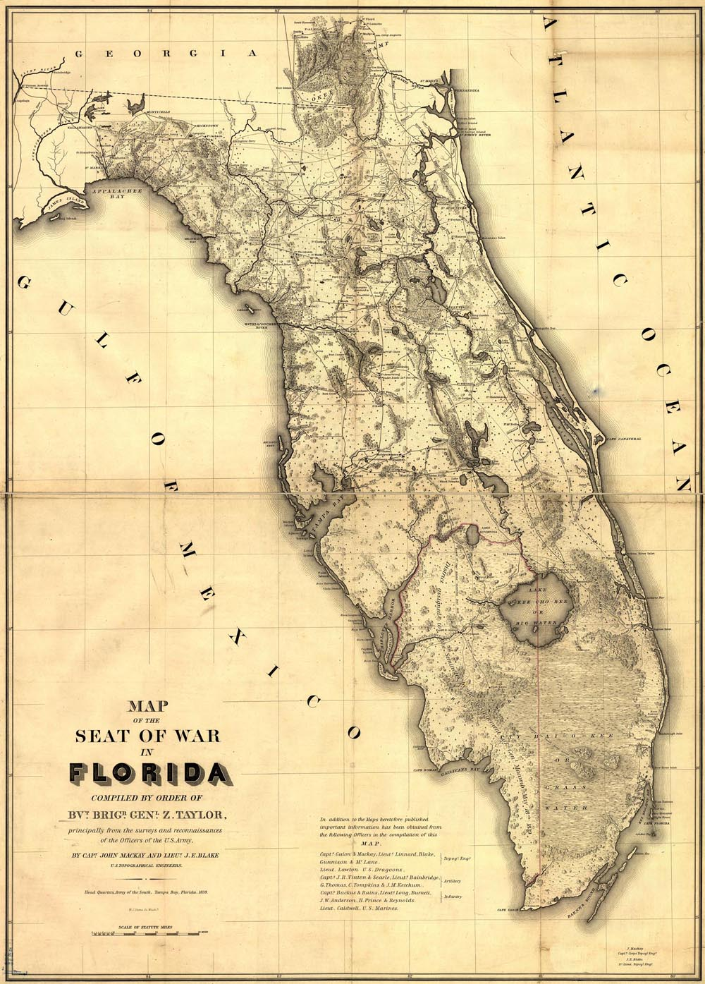 Florida Seminole War Map
