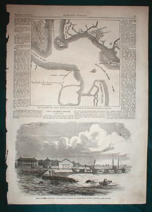 Charleston Civil War Map