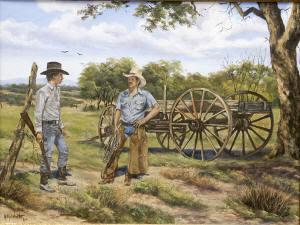 Western art cowboy painting