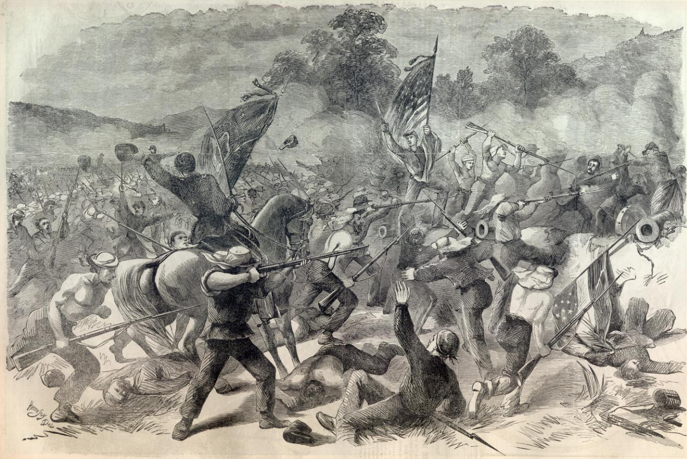 battle of bull run But no one had ever seen death on the scale that the big battles of the civil war   first battle of bull run, chromolithograph by kurz & allison.