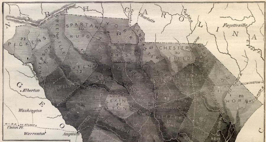South Carolina Slave Map - Map of south carolina