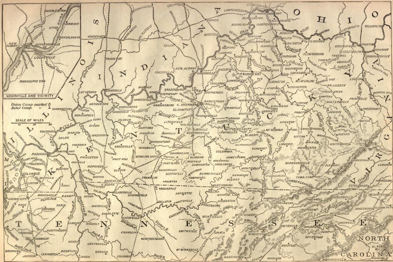 Civil War Battle Map of Kentucky