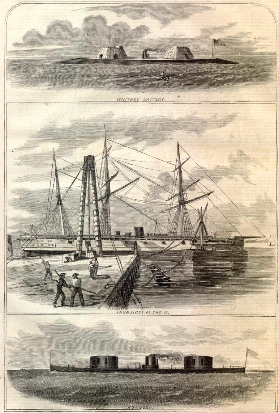 the ironclads in the oceans of the civil war All the us coastal monitors of the civil war presented generally the same appearance: a low iron raft with one or more turrets on deck, and little, if any, superstructure these ships were intended solely for operations in sheltered coastal waters two were sunk when open ocean passages were attempted.
