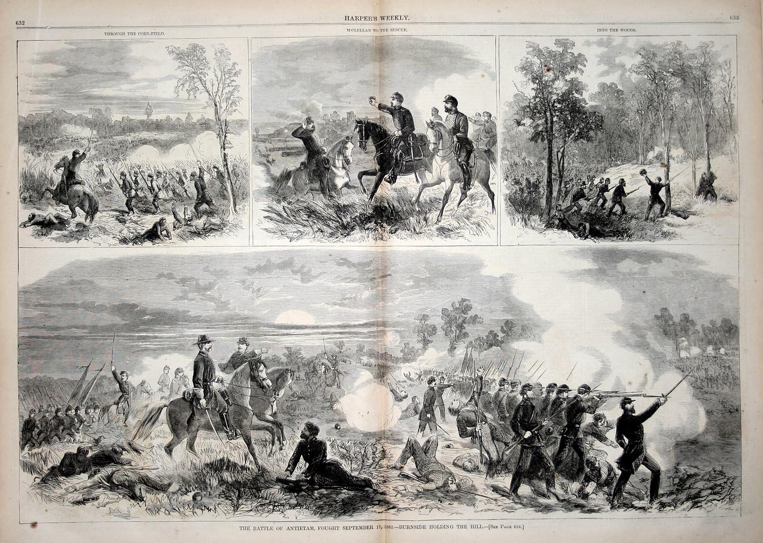 battle of antietam On september 17, 1862, generals robert e lee and george mcclellan faced off near antietam creek in sharpsburg, maryland, in the the first battle of the american civil war to be fought on northern soilthough mcclellan failed toutlilize his numerical superiority to crush lee'sarmy, he was able to check the confederate advance intothe north.