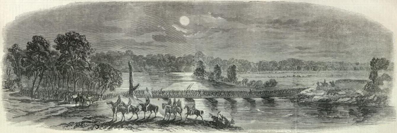 The details of the events of the crossing of the potomac army to rappahannock