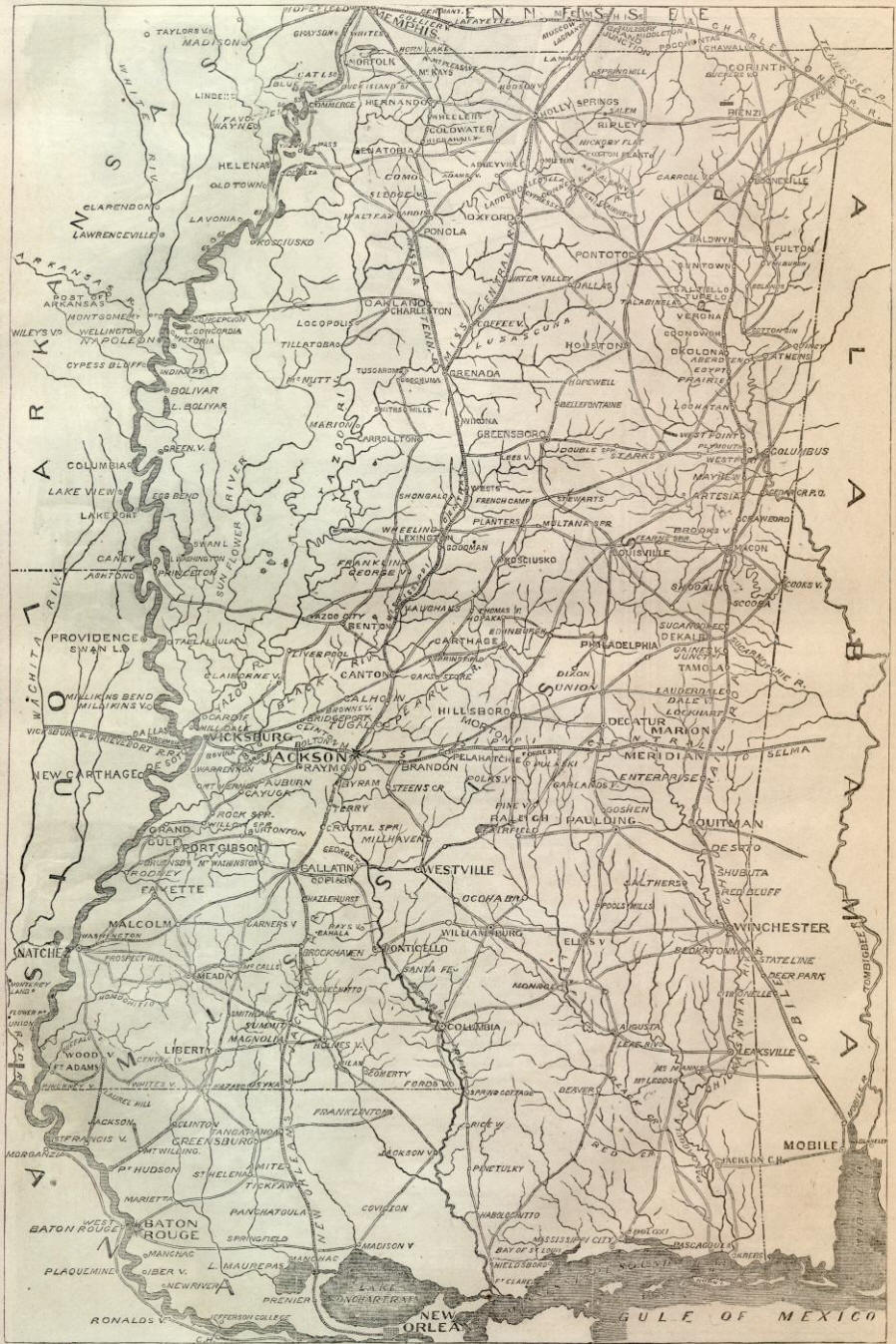 Map Of Mississippi - Missisippi map