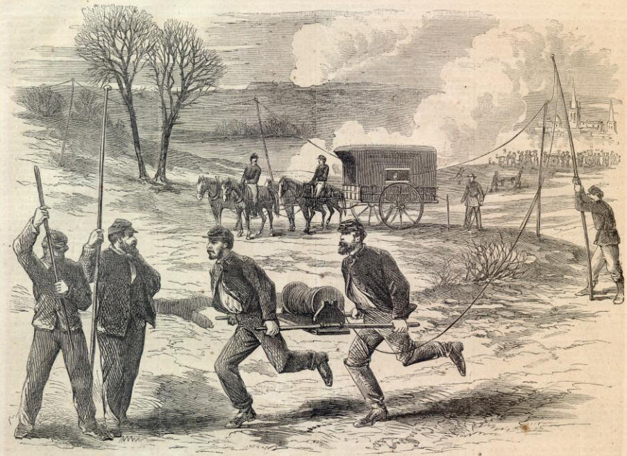 telegraph communication in the civil war The first telegraph and samuel morse  that depended on a line of sight for communication  the civil war heralded the use of portable telegraph units.