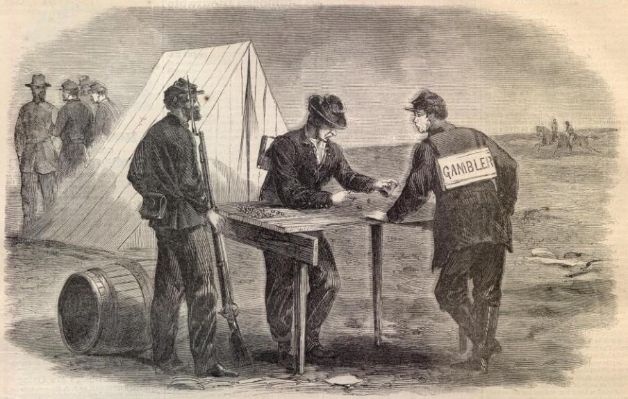 Civil war gambling dice casino industry association