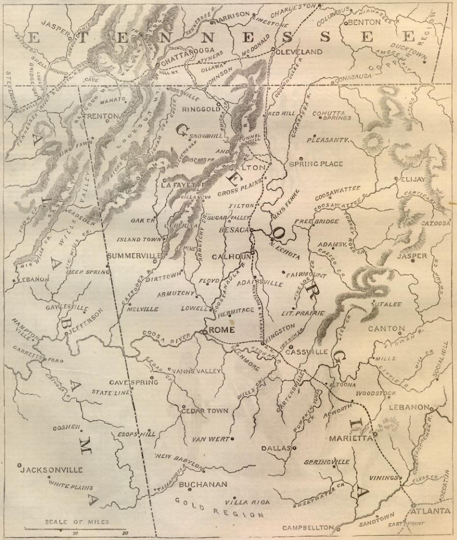 Georgia Battle Map