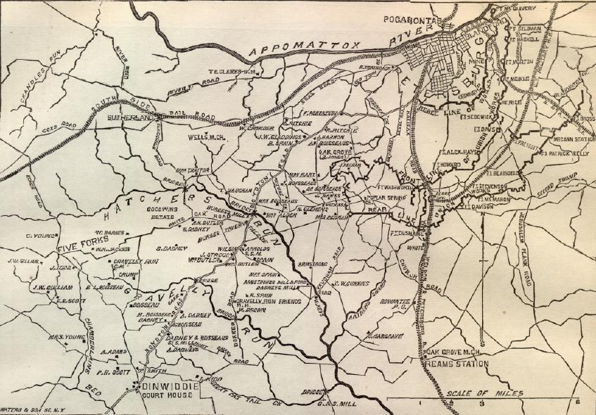Map of Petersburg Virginia