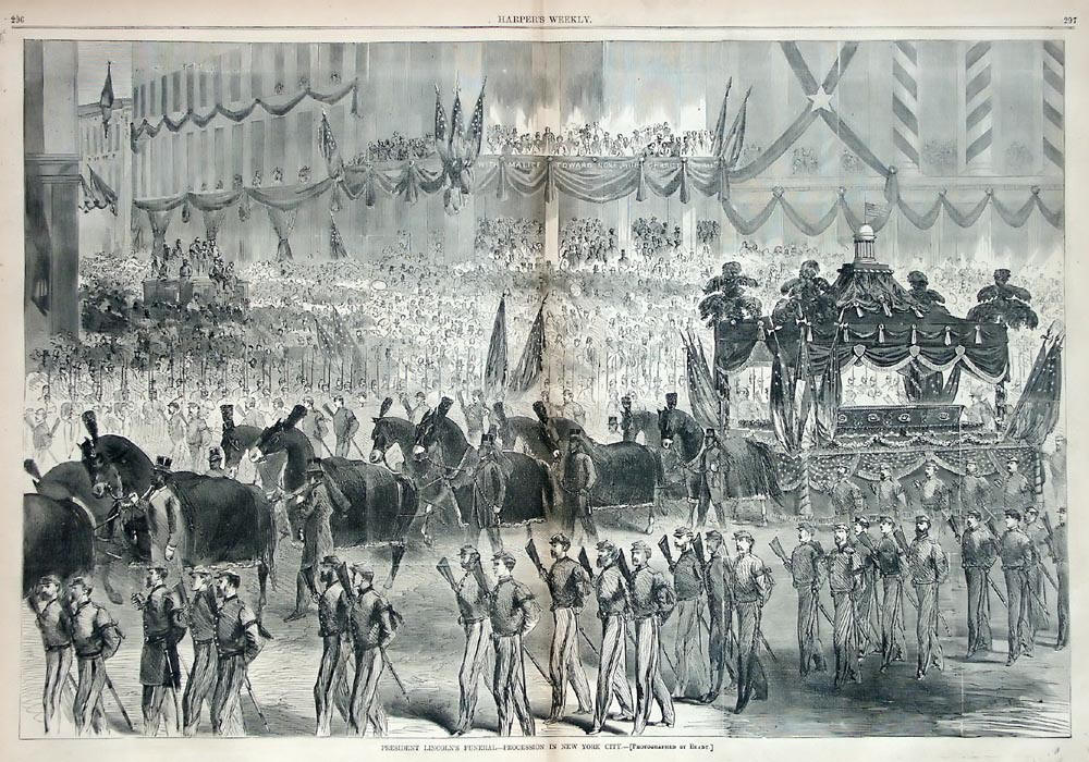 President Abraham Lincoln's Funeral Procession in New York
