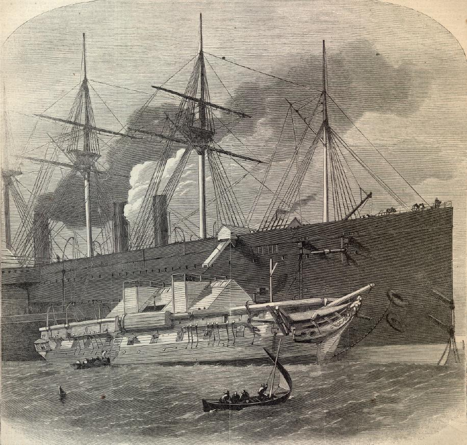 "The ""Great Eastern"" Laying the First Transatlantic Telegraph Cable"