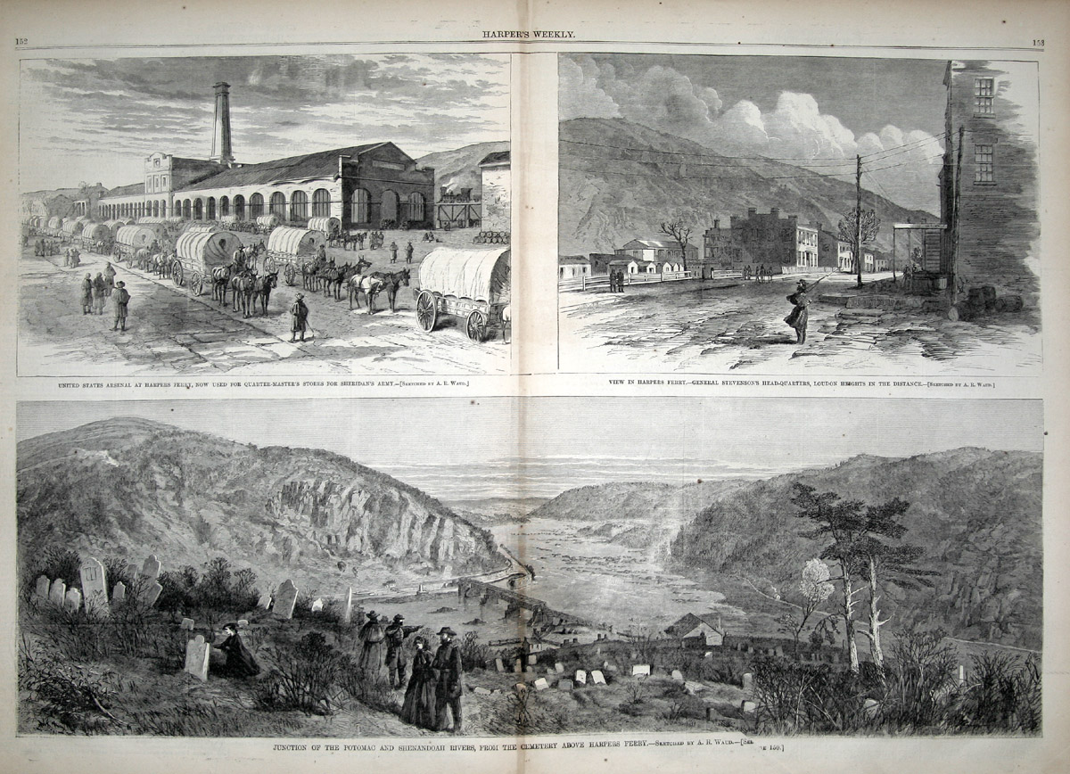 the raid of harpers ferry as presented in franklin repository and staunton vindicator