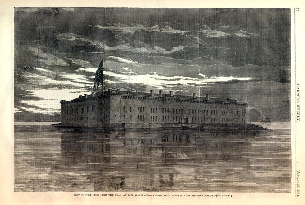 Civil War Illustration of Fort Sumter