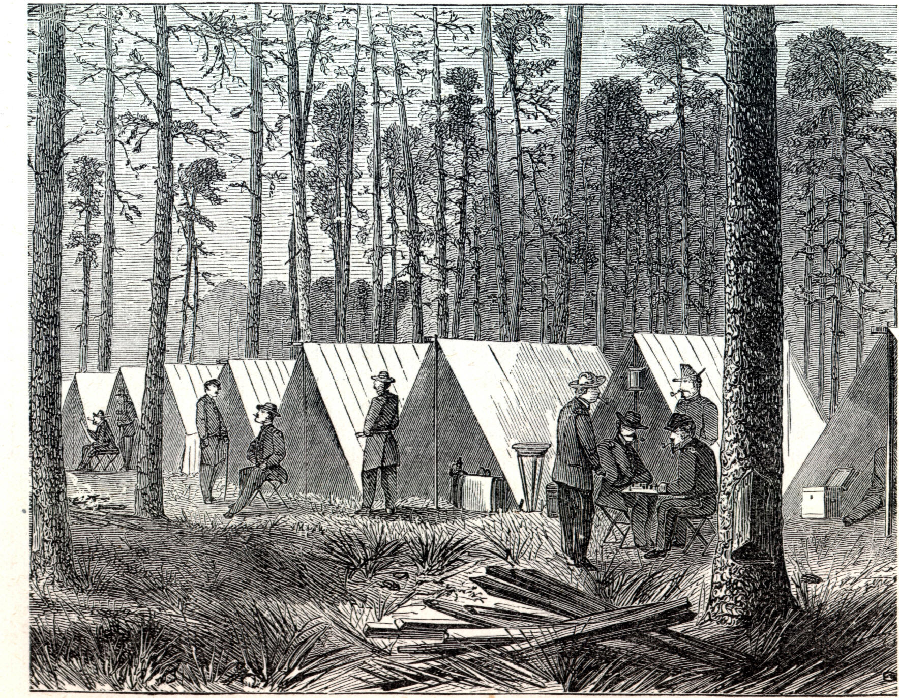 General sherman s headquarters during march to the sea