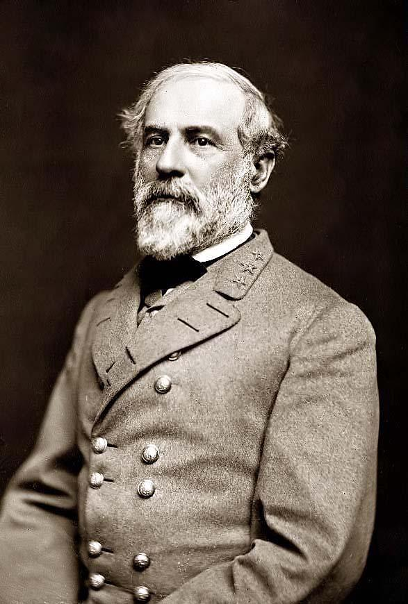 This is a picture of Gen. Robert E. Lee, a commander of the Confederate forces.           http://www.sonofthesouth.net/leefoundation/robert-e-lee-pictures/robert-e-lee.jpg
