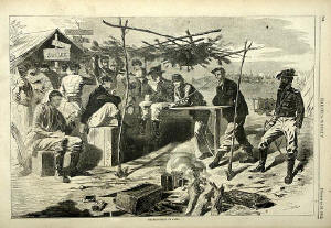 Winslow Homer -  Thansgiving in Civil War Camp