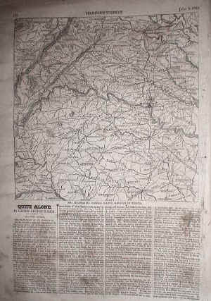 Civil War Battle Map of Virginia