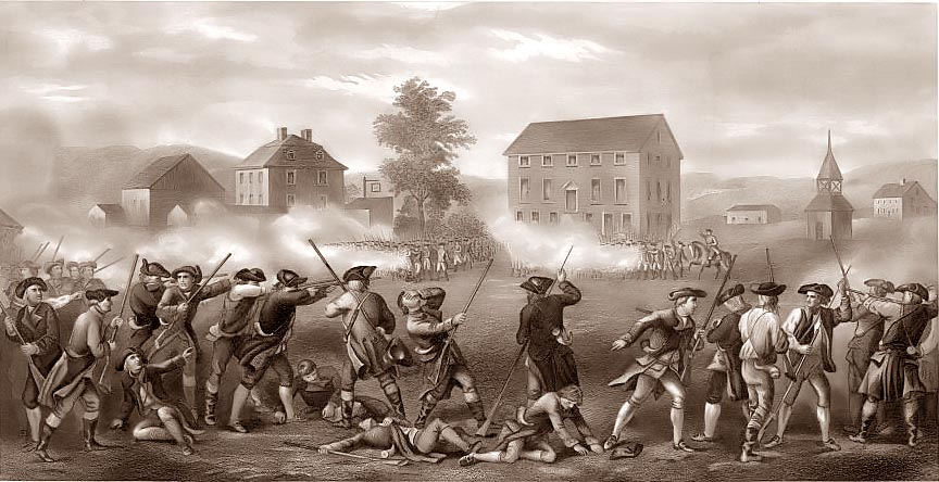 the american revolution began in april On april 19, 1775, british and american soldiers exchanged fire in the  the depositions themselves begin on page 28 a guide to the american revolution,.