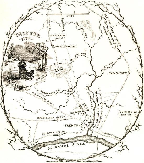 Pin Map Of The Battle Of Trenton On Pinterest