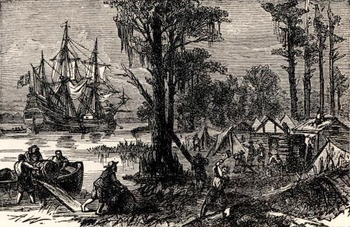 Jamestown. On May 13, 1607, more than 100 Englishmen landed on a
