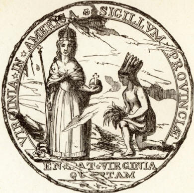 Colonial Seal Of Virginia