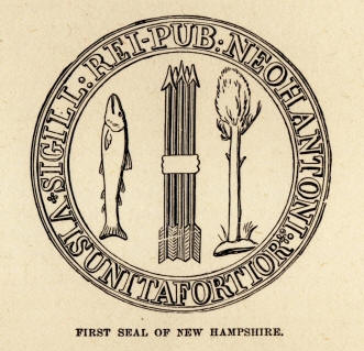 Seal of the NH Republic which represents the rights contained in Part I of the NH Constitution
