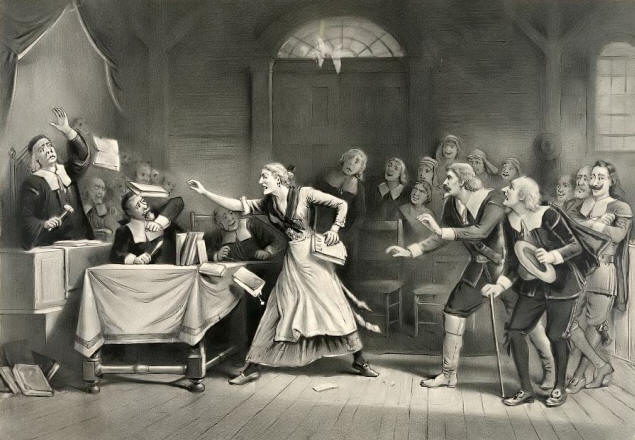 Painting Depicting the Salem Witch Trials