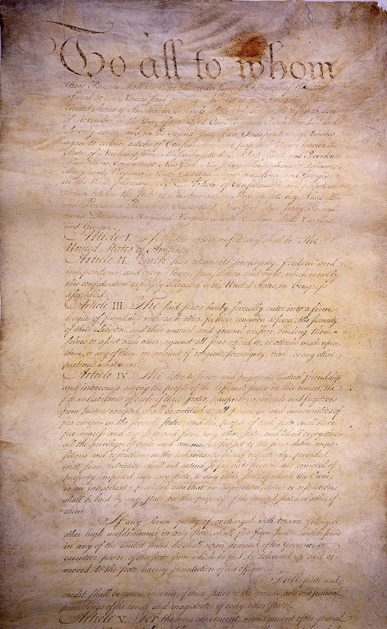 Weaknesses Of The Articles Of Confederation. government, although,