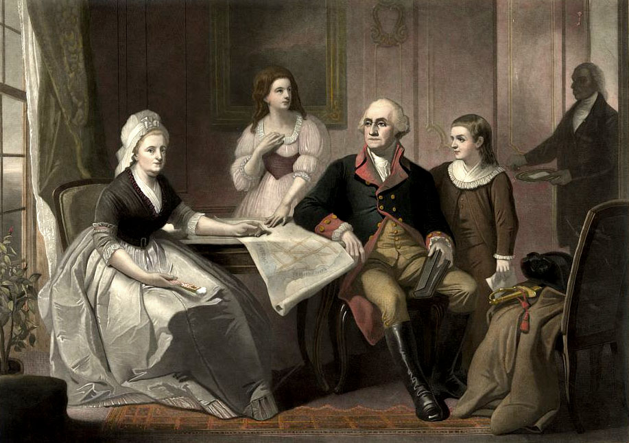 Picture Of The Family Of George Washington