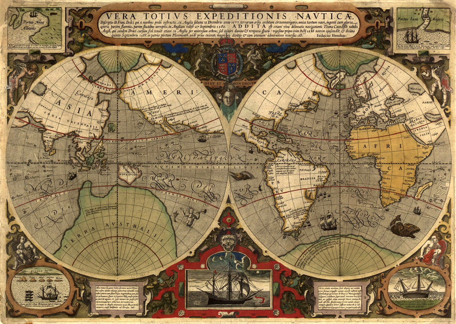 Sir francis drake world map sir francis drake map gumiabroncs Choice Image