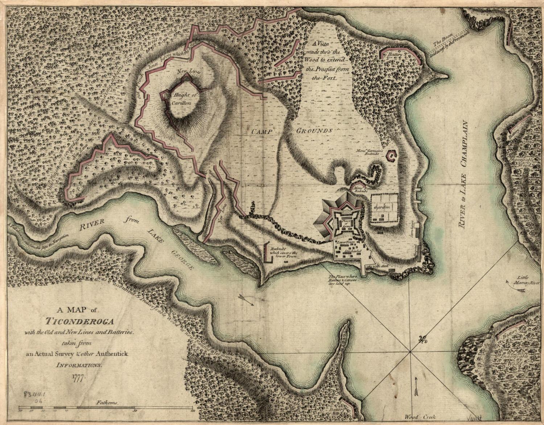Map of Revolutionary War Battles Map of The Revolutionary War