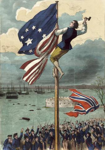 美国国旗的历史(图 英文简介)