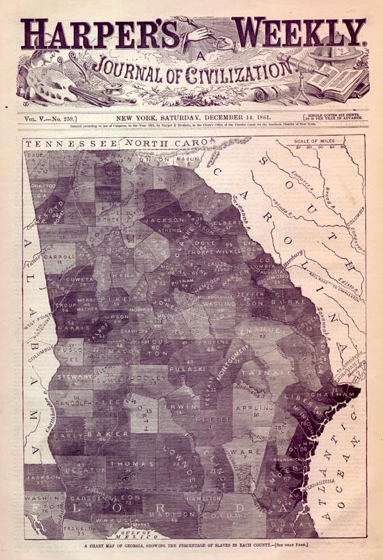 Map Of Georgia 1700.Slave Maps