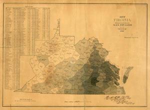 Virginia Slave Map