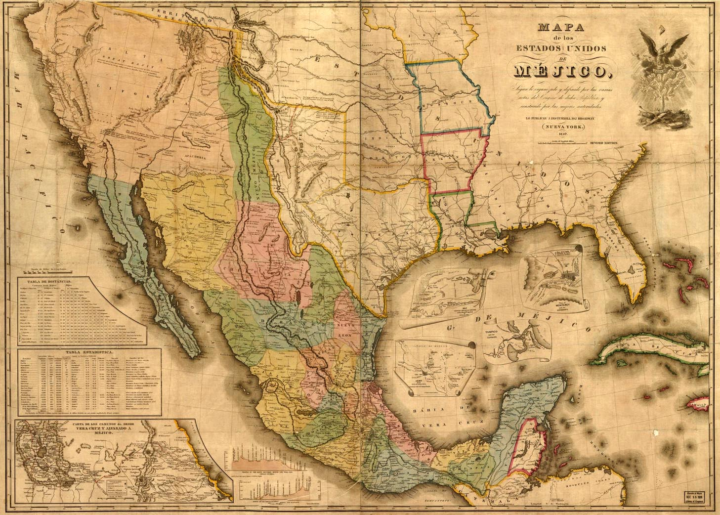 Map Of Texas Mexico.Texas Map During The Mexican War