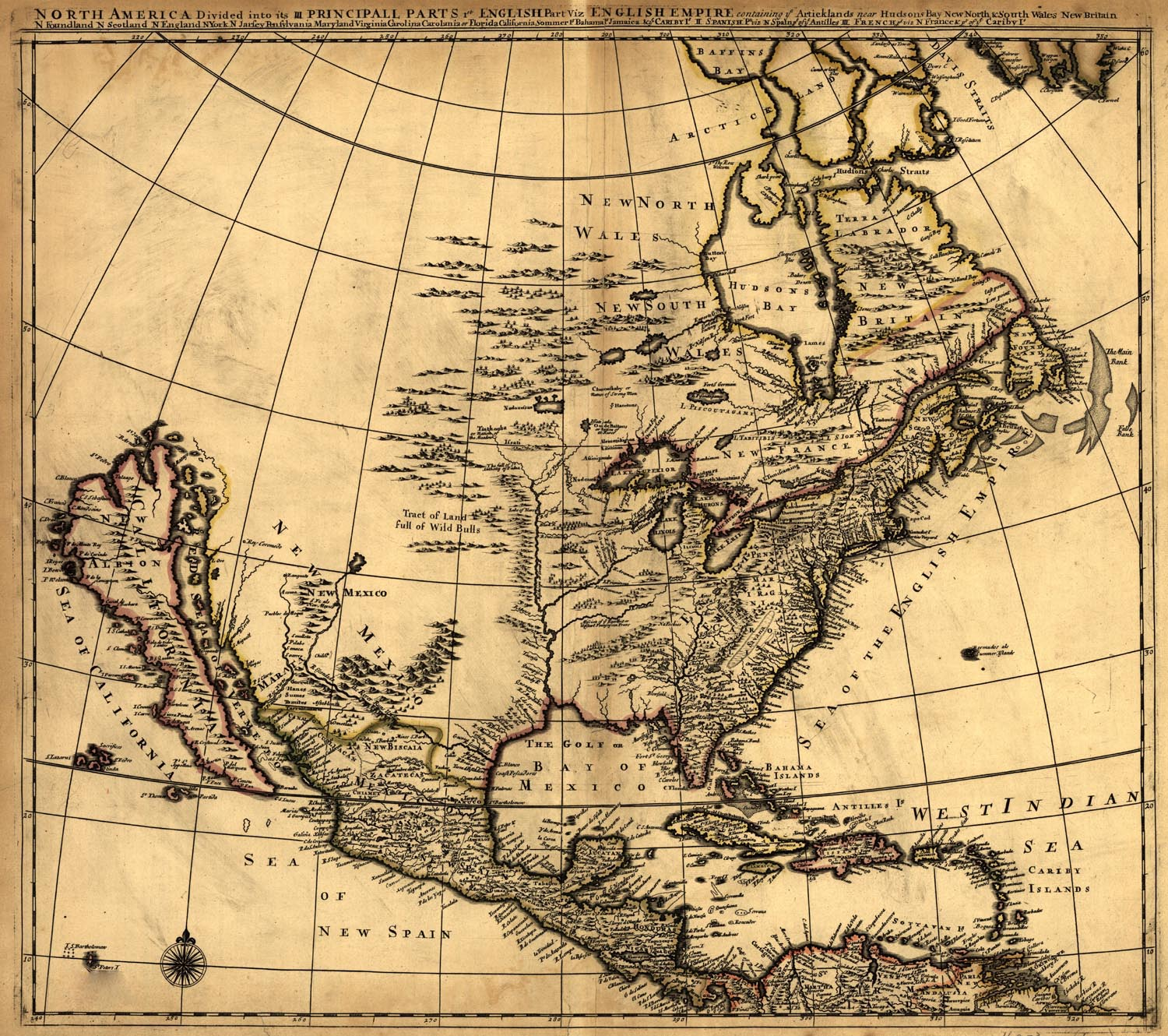 Map of United States in 1600s