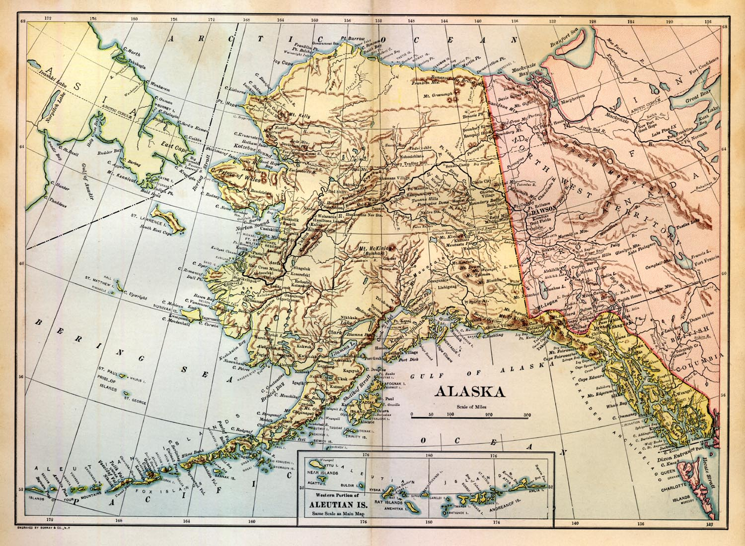 Map Of Alaskan Territory - Alaskan map