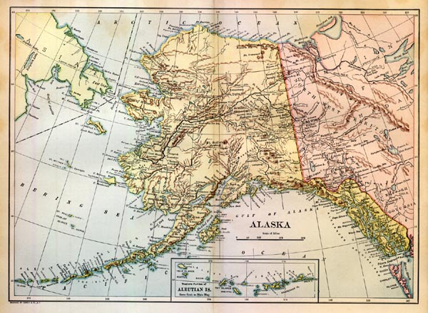 Map of Alaska. Click Here for More Eskimo Pictures