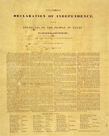 Date of declaration of independence