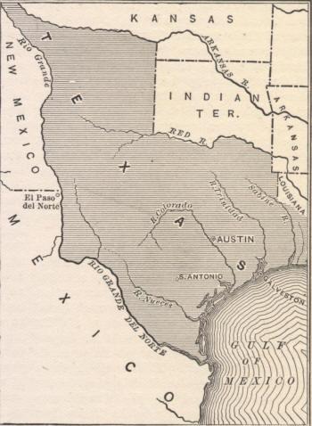 Republic of Texas Map