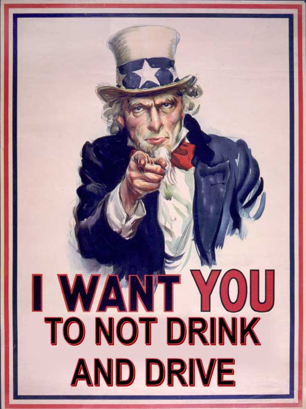 Uncle Sam Wants You to Not Drink and Drive