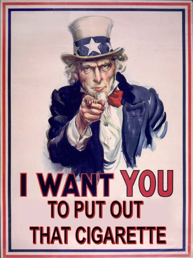 uncle sam wants you to not smoke