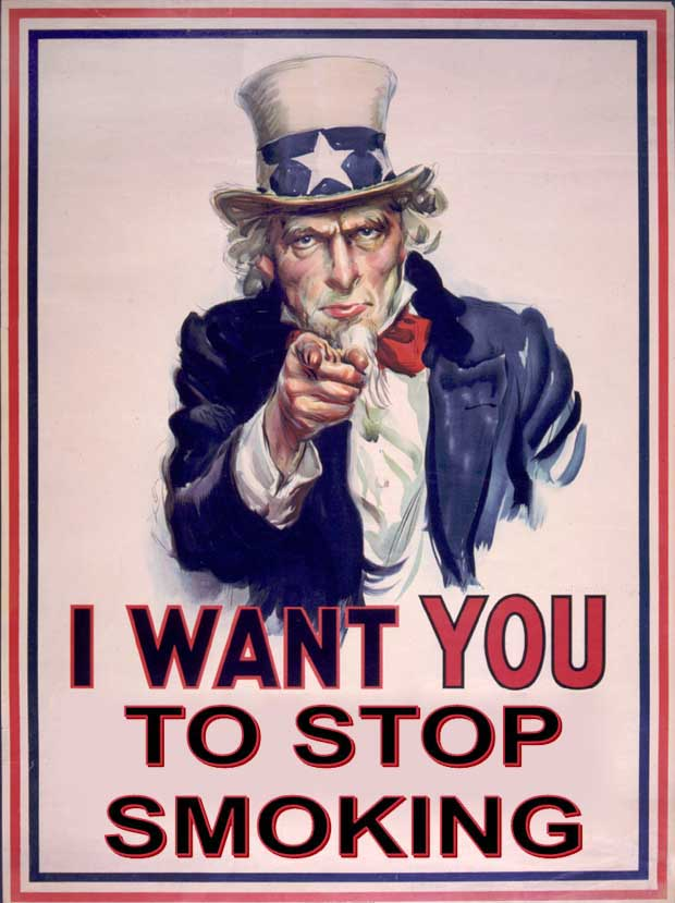 Uncle sam wants you to stop smoking