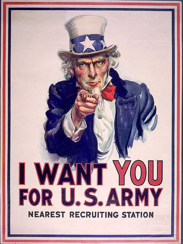 uncle sam wants you recruiting poster