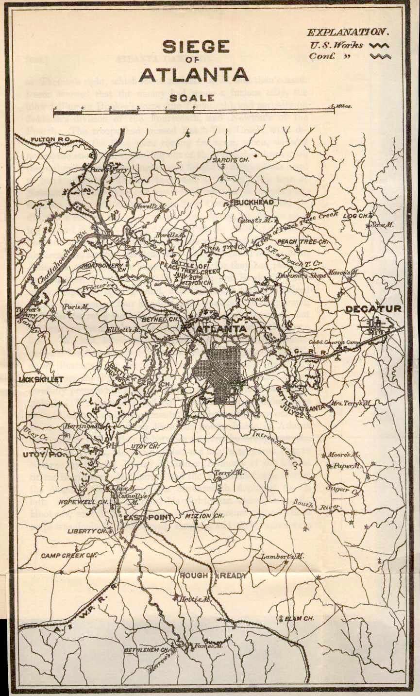 BATTLE OF ATLANTA  PDF Books To Read Online For Free - Map of atlanta civil war