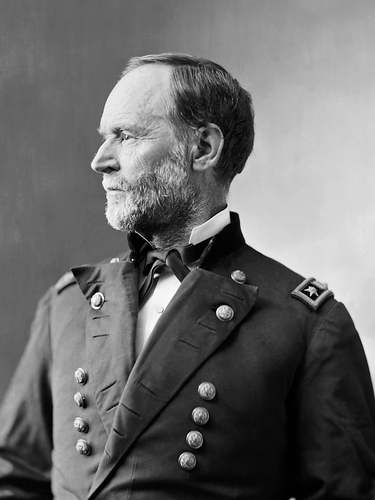 Up photograph of general sherman portrait of general william t